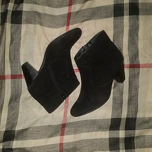 Lane Bryant faux suede booties 10w